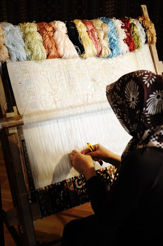 Authentic Oriental rugs are handmade