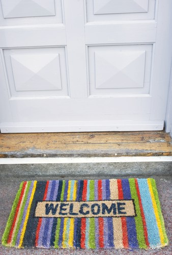 The welcome mat should be fresh and bright